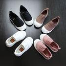 童鞋 懶人鞋 兒童帆布鞋 男女童鞋  布鞋 黑白色休閒鞋現貨+預購 【莎芭】按照腳長多+1公分選碼