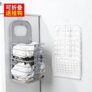 壁掛臟衣籃浴室收納筐塑料可折疊免打孔家用...