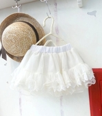 【韓版童裝】波浪下襬蕾絲裙-白【BO140326034】