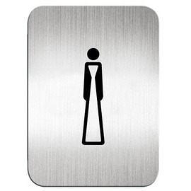 迪多Deflect-o 鋁質方形貼牌-女生洗手間 610510S