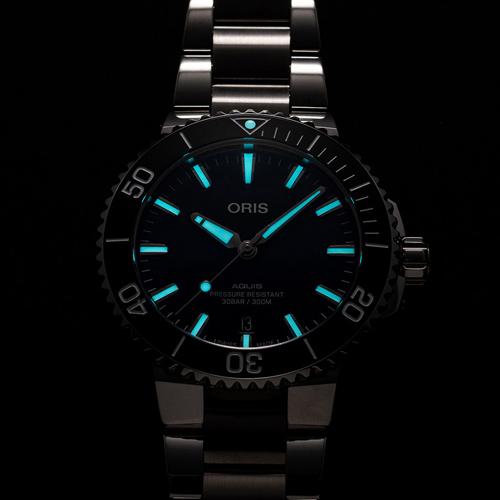Oris 豪利時 Aquis時間之海300米潛水錶 0173377664135-0782205PEB-藍/41.5mm