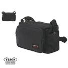 背包族【YESON 永生】大容量雙夾層休閒包/側背包/斜背包-黑