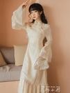 國風風法式復古秋旗袍改良版溫柔洋裝新款收腰年輕款少女氣質仙