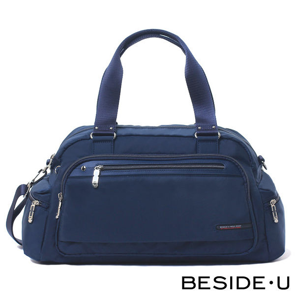 Backbager 背包族【英國 BESIDE-U】TUBE CONNECTION系列休閒小旅行包/肩背包 藍色