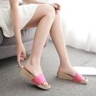 增高拖鞋 拖鞋女外穿高跟女款涼拖時尚百搭增高厚底氣質夏-Ballet朵朵