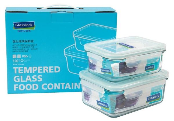 Glasslock 四件式強化玻璃保鮮盒組‧格拉氏洛克-【Fruit Shop】