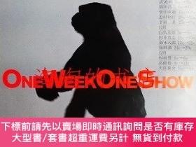 二手書博民逛書店ONE罕見WEEK ONE SHOW <ポスター>Y473414 アートディレクション + 寫真 : 高橋稔
