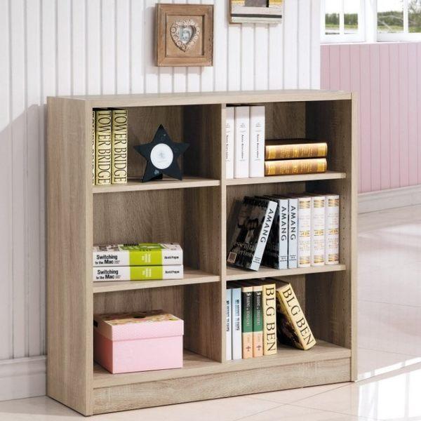【新北大】✪ R261-6 康迪仕淺木色六格寬書櫃 -18購