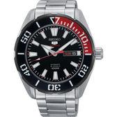 【台南 時代鐘錶 SEIKO】精工 盾牌五號 潛水風格機械錶 SRPC57J1@4R36-06S0D 黑圈 45mm