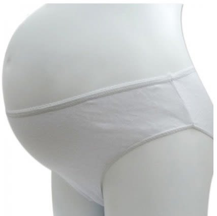 *漂亮小媽咪*月子必備 麗子 棉質免洗褲 產婦型 孕婦免洗內褲 5入 U0003WHITE