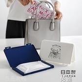 口罩收納盒 日本進口口罩收納盒便攜式 一次性口罩塑料防塵盒口鼻罩暫存夾包 薇薇