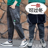 男童加絨牛仔褲冬裝新款中大童寬鬆厚長褲秋冬季兒童一體絨褲子潮 小艾新品