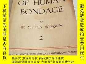 二手書博民逛書店OF.罕見HUMAN BONDAGE (2)Y13204 不祥