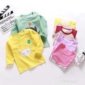 男童長袖上衣-寶寶長袖t恤秋冬純棉嬰兒上衣兒童長袖T恤男童女童打底長袖春秋裝 多麗絲