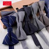 韓版男士蝴蝶結新郎結婚婚禮 亞光棉布質感禮服正裝領結男英倫潮 至簡元素