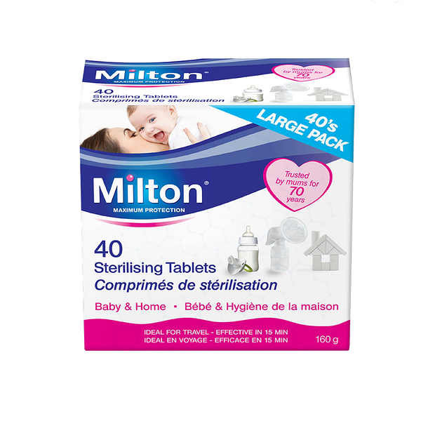 英國 Milton 米爾頓 嬰幼兒專用消毒錠 40入/盒