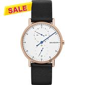 Skagen Signature 北歐時尚單針手錶-白x玫塊金框/40mm SKW6390