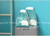 【卡通束口袋大號】雙層旅行衣物收納防塵卡通束口包 卡通拉繩收納袋 防潑水分裝袋 抽繩整理袋