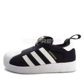 Adidas Superstar 360 C [S32130] 中童鞋 運動 休閒 金標 黑 白 愛迪達
