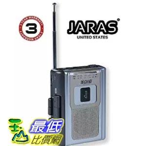 [美國直購] Jaras® JJ-2016 Limited Edition Portable Personal Cassette Player AM/FM 收音機答錄機