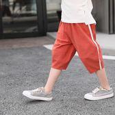 兒童運動短褲外穿男童棉麻夏季2018新款薄款中大童 KB2256【每日3C】