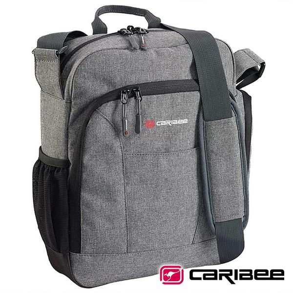 【Caribee 澳洲】DEPARTURE BAG側背包『灰黑』CB-1229 露營.戶外.旅遊.多隔間.隨身包