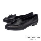Tino Bellini 義大利進口典雅小流蘇樂福鞋_黑 C63001C 歐洲進口款