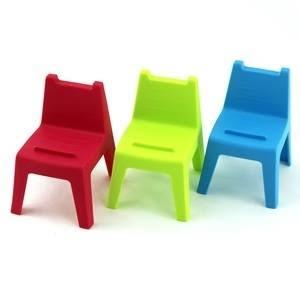 HOUSE 好室喵 學童椅 椅子造型 手機座 1組3入【合迷雅好物超級商城】