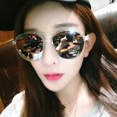 現貨-新款韓版復古大框太陽眼鏡修臉百搭潮人男女墨鏡個性切邊眼鏡透明墨鏡太陽眼鏡187