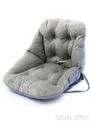 連體坐墊靠墊背一體辦公室護腰座墊家用椅子學生宿舍電腦椅墊加厚 深藏blue