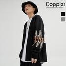 針織外套 日系民族風圖騰寬鬆開襟針織外套 針織衫【TJMZ61】 現貨+預購 Doppler