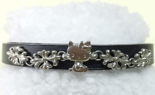 【震撼精品百貨】Hello Kitty 凱蒂貓~手環/手鍊-立體鑲花造型