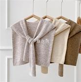 圍巾 搭配好物~針織純色披肩女外搭肩簡約百搭季網紅同款打結圍巾 快速出貨