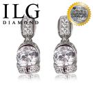 【ILG鑽】頂級八心八箭擬真鑽石耳環-ER047- 閃耀佳麗款