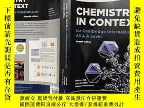 二手書博民逛書店Chemistry罕見in Context for Cambridge International AS and