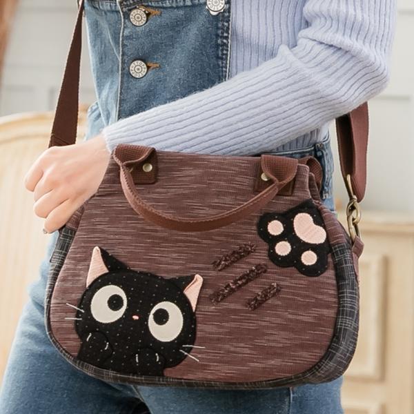 小黑貓兩用包/手提/斜背包