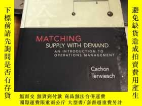 二手書博民逛書店matching罕見supply with demand:an