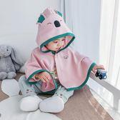 寶寶外套 嬰兒斗篷春秋薄款秋裝寶寶夏季披風外套秋冬加厚外出防風防曬披肩 小宅女