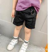 童裝韓版兒童沙灘褲男童破洞短褲中大童熱褲子 莫妮卡小屋