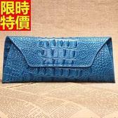 長夾-質感鱷魚紋時尚女真皮錢包10色68l9【巴黎精品】