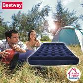 Bestway (寬137cm)內置枕頭蜂窩立柱植絨雙人充氣床/居家睡墊/休閒充氣床/露營床墊/野營睡墊(67225)