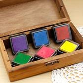 ✭慢思行✭【K112】八色印油套組 印泥 多色 文具 手作 DIY 卡片 手工 印章 韓國 炫彩