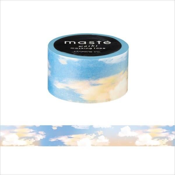 紙膠帶 SEIO 日本官方授權 Masté 日本製 和紙 紙膠帶 Travel Vanilla Sky 香草天空