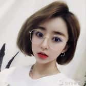 眼鏡框女韓版圓臉大框素顏平光鏡復古風眼鏡      ciyo黛雅