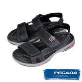 【PEGADA】巴西名品氣墊運動涼鞋  黑色(31904-BL)