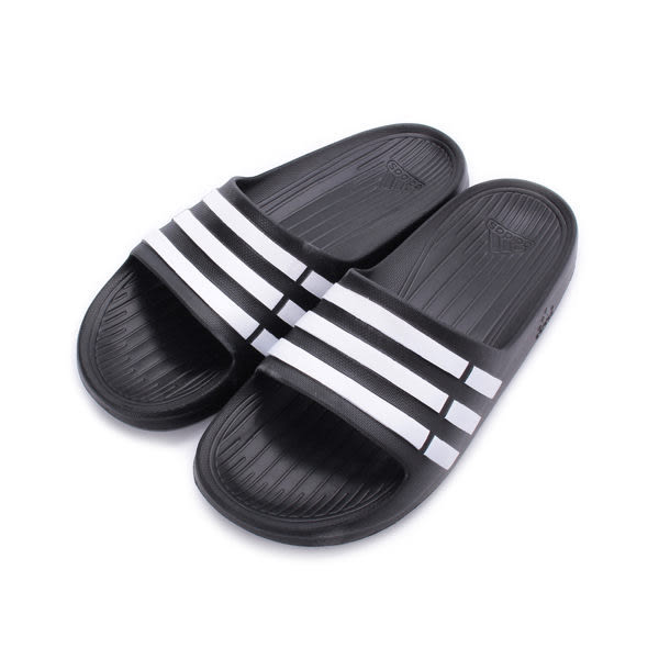 ADIDAS DURAMO SLIDE K 一體成型套式拖鞋 黑白 G06799 大童 鞋全家福