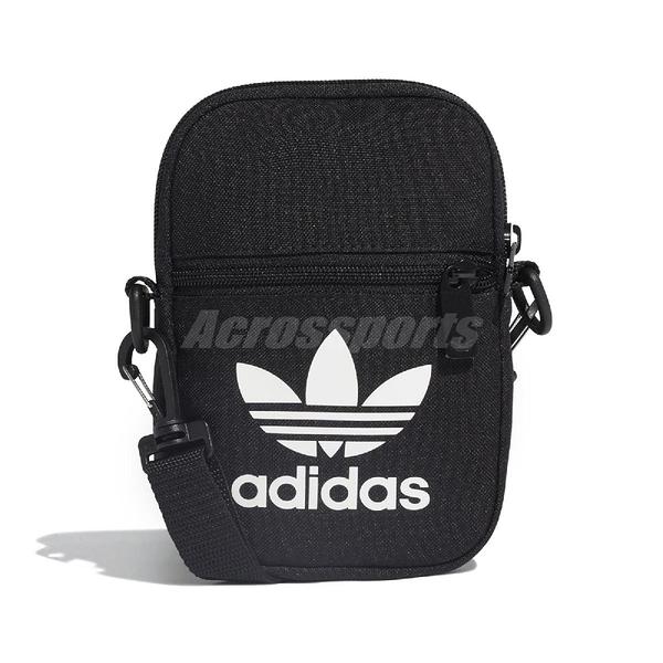 adidas 側背包 Trefoil Festival Bag 黑 白 男女款 隨身包 手機包 【ACS】 EI7411