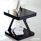 簡約現代鋼化玻璃茶幾創意客廳小方茶幾角幾邊幾沙發小邊桌小邊櫃ATF