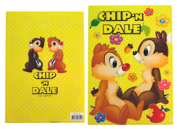 【卡漫城】 L字型 資料夾 ㊣版  Chip n Dale 奇奇蒂蒂 文件夾 檔案夾 日製  三個