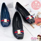 艾妮塔公主。中大尺碼女鞋。英倫氣質金釦娃娃鞋 共2色。(D551) 37 38 39 40 41 42 43 44碼